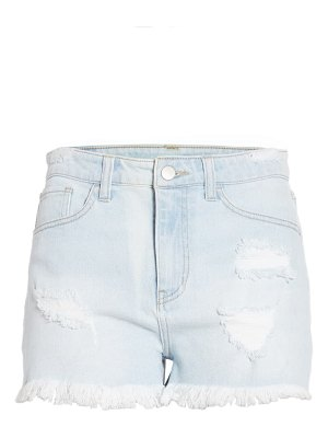 Tinsel distressed high waist denim shorts