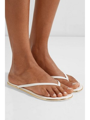 TKEES foundations gloss patent-leather flip flops