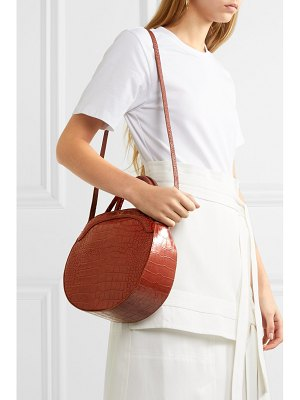 TL-180 panier croc-effect leather tote