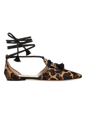 Tod's 10mm animalier lace-up leather flats