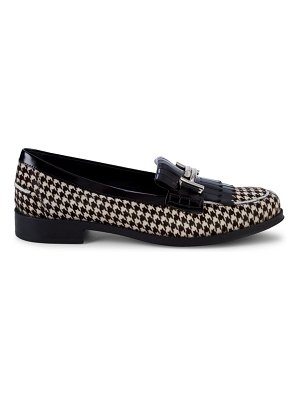 Tod's Calf Hair Houndstooth Loafers