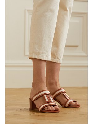 Tod's canvas and leather mules - off-white