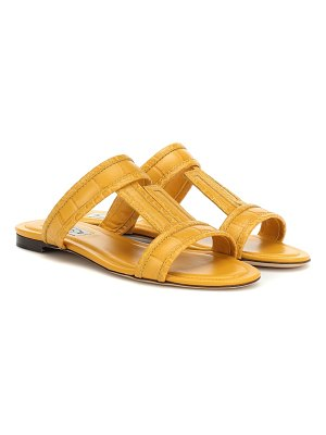 Tod's croc-embossed leather sandals