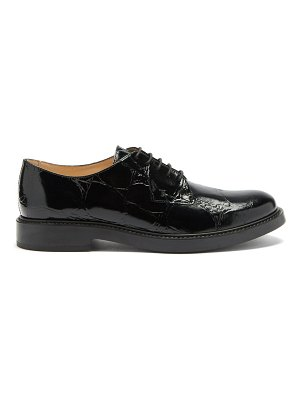 Tod's crocodile-embossed patent-leather brogues