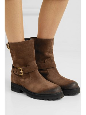 Tod's distressed suede ankle boots