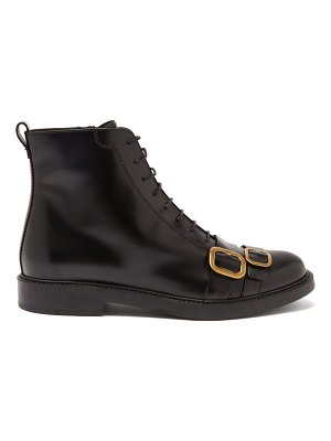 Tod's double-buckle leather military boots