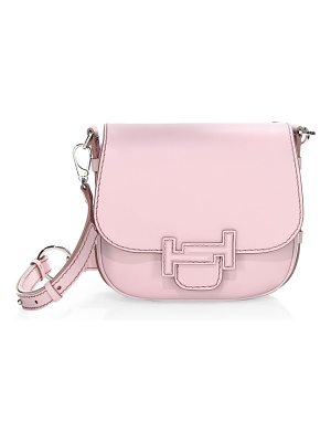 Tod's double t leather saddle bag