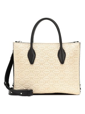 Tod's exclusive to mytheresa – small leather-trimmed tote