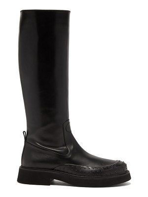 Tod's gommini knee-high leather boots