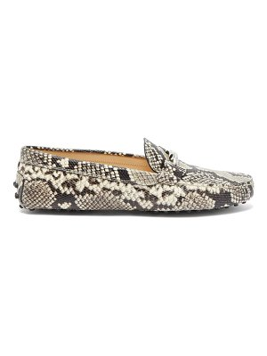 Tod's gommini python-embossed leather loafers