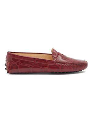 Tod's gommino crocodile-effect leather penny loafers
