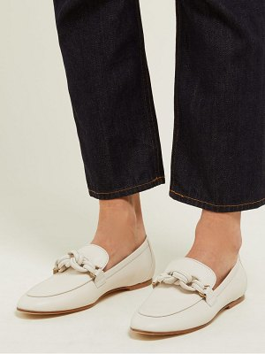 Tod's knotted leather loafers