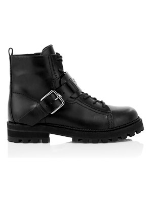 Tod's leather combat boots