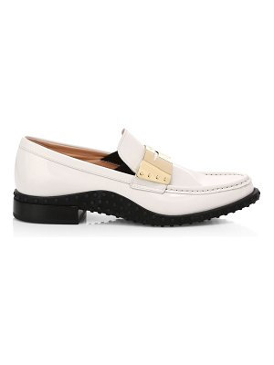 Tod's patent leather penny loafers