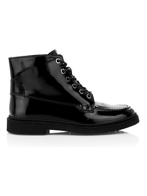 Tod's patent leather combat boots