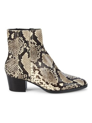Tod's python-embossed leather ankle boots