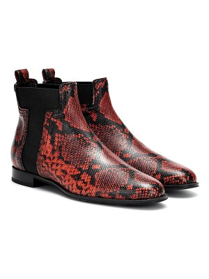 Tod's exclusive to mytheresa – snake-effect leather ankle boots