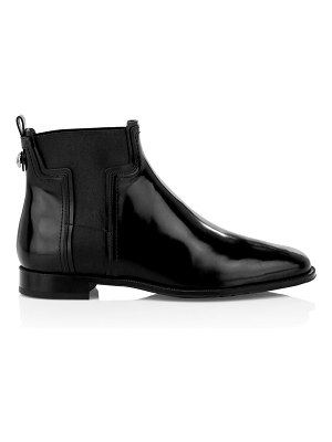 Tod's t elastic leather chelsea boots