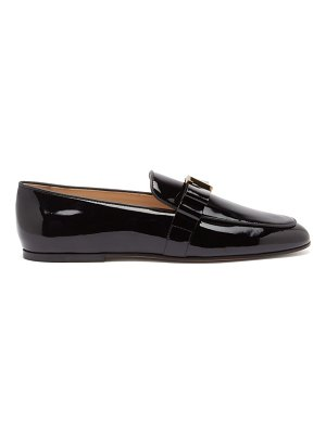 Tod's t-plaque bow patent-leather loafers