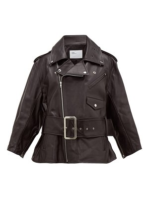 TOGA belted leather biker jacket