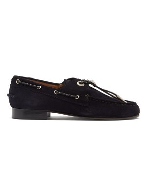 TOGA bolo-tie suede loafers