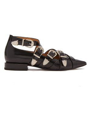 TOGA Buckled leather flats