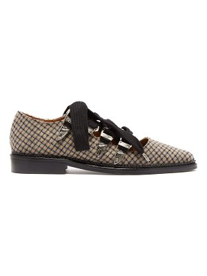 TOGA Checked Wool Point Toe Flats