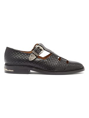 TOGA dolly t-bar woven-effect leather loafers