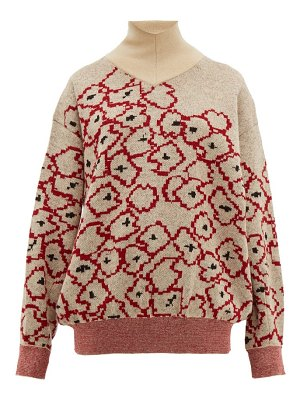 TOGA floral-jacquard mohair-blend sweater