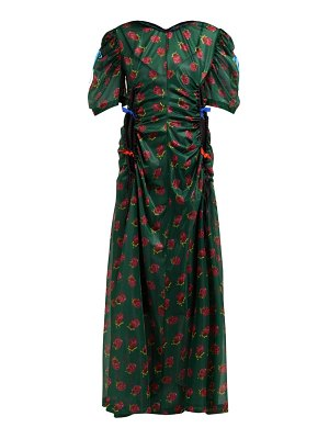 TOGA floral-print ruched cut-out maxi dress