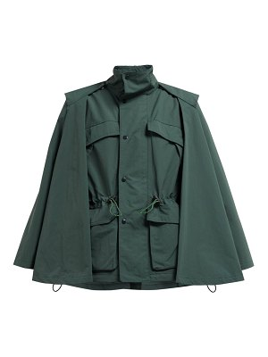 TOGA high-neck technical cape jacket