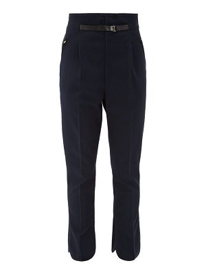 TOGA high-rise belted trousers