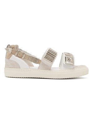 TOGA Leather and rubber buckle sandals