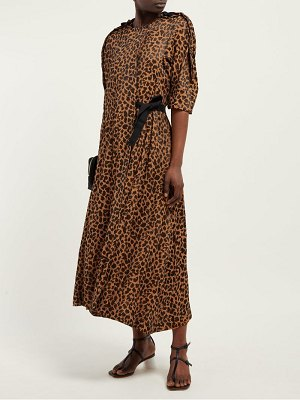 TOGA leopard-print wrap-around jacquard dress