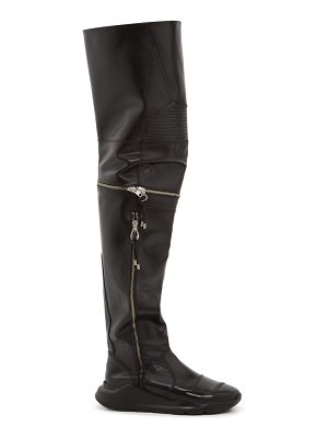 TOGA over-the-knee leather biker boots