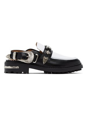 TOGA PULLA and white leather mule loafers