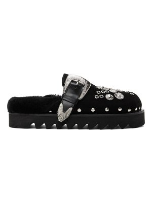 TOGA PULLA suede buckle loafers