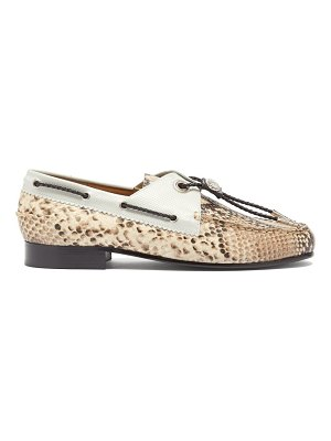 TOGA python-effect leather loafers