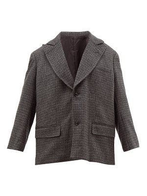 TOGA single-breasted houndstooth wool-blend jacket