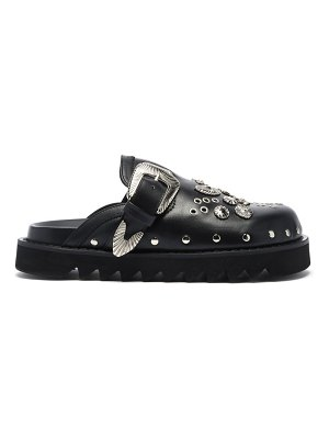 TOGA studded leather clogs