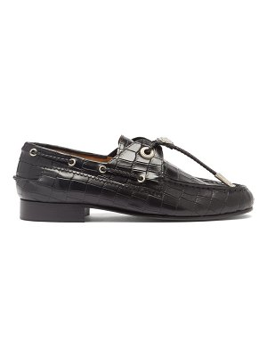 TOGA toggled crocodile-effect leather loafers