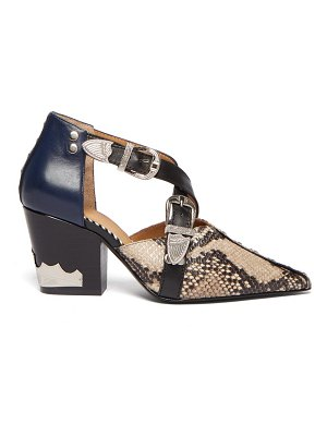 TOGA western python effect leather ankle boots
