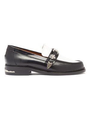 TOGA western-strap leather loafers