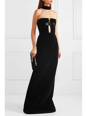 TOM FORD bow-detailed cutout cotton-velvet gown