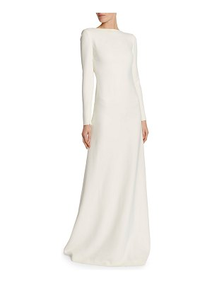 TOM FORD Chain-Trim Long-Sleeve Cady Gown