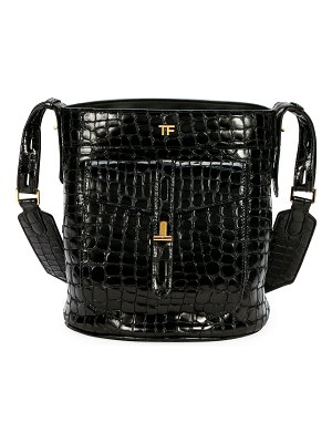 TOM FORD Embossed Leather Bucket Bag