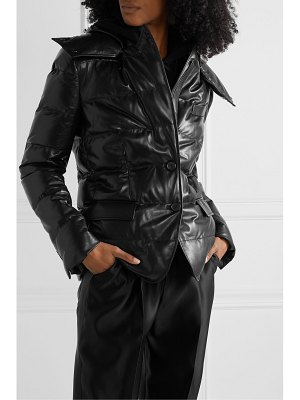 TOM FORD hooded quilted leather down jacket