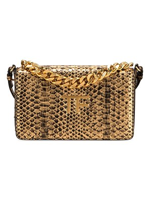 TOM FORD Large Laminated Python TF Shoulder Bag