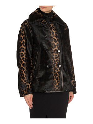 TOM FORD Leopard Calf Hair Double-Breasted Blazer Jacket