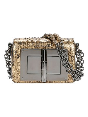 TOM FORD Natalia Laminated Python Small Shoulder Bag